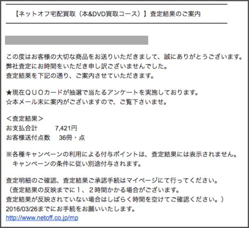 査定結果(3月21日)