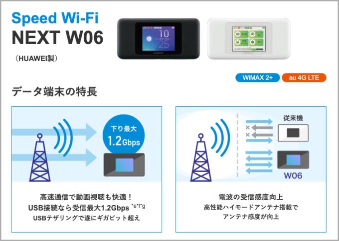 WiMAXの端末