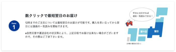 漫画全巻ドットコム・お届け日数