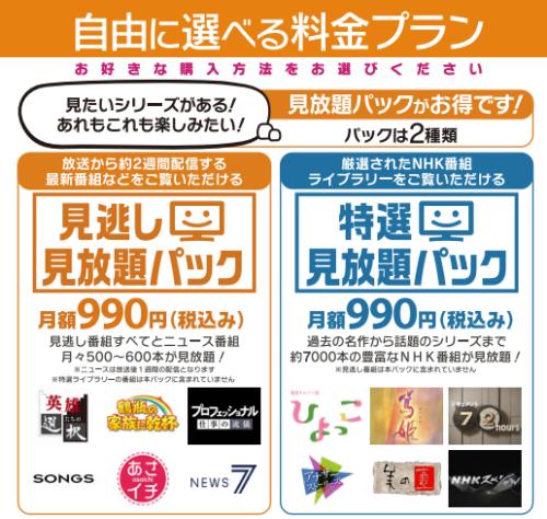 NHKオンデマンド・料金