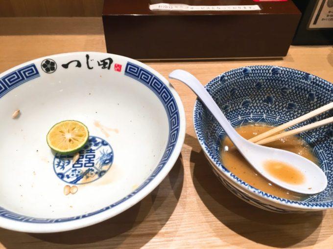 つじ田のつけ麺を完食